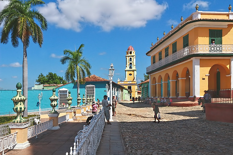 Historic center and central plaza in the lovely colonial town of Trinidad, Cuba