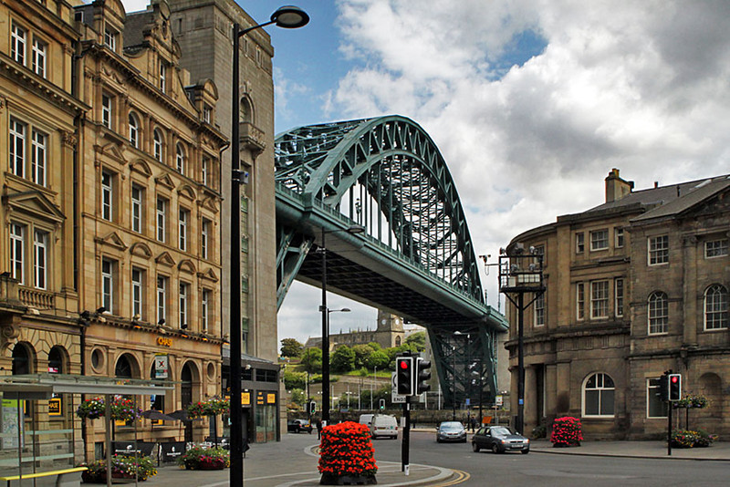 Tyne Bridge in Newcastle, England looks like a miniature of the Harbor Bridge in Sydney, Australia but it was built first