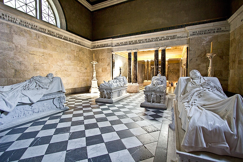Crypts in the Mausoleum at Charlottenburg Palace in Berlin
