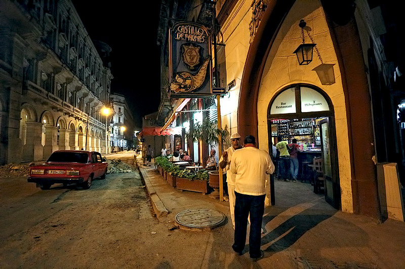 Cozy Castillo de Farnes Bar and Cafe in Old Havana, Cuba, was once a favorite gathering place for Castro Revolutionaries