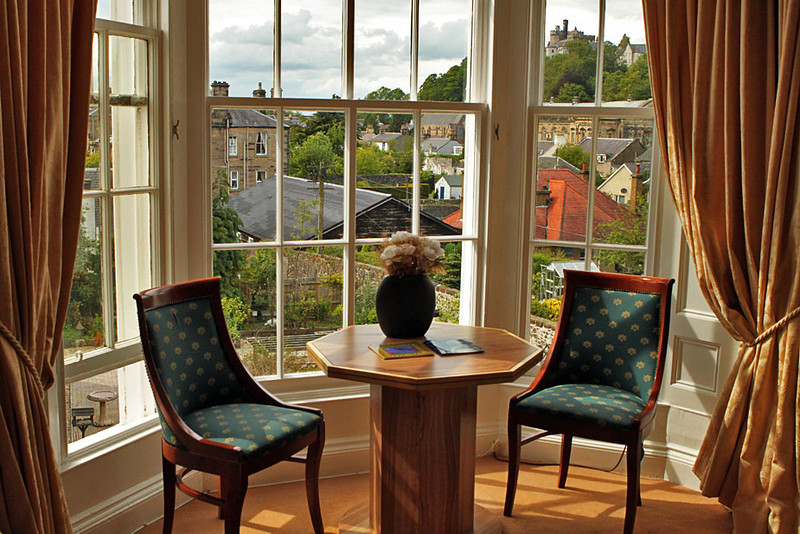 View of Stirling Castle from an apartment in Stirling, Scotland