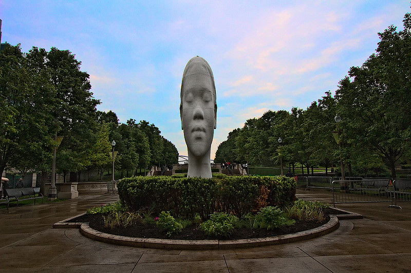 On the 10th anniversary of the Crown Fountain, in Chicago's Millennium Park, artist Jaume Plensa's presents monumental sculptures for a special exhibition, entitled 1004 Portraits
