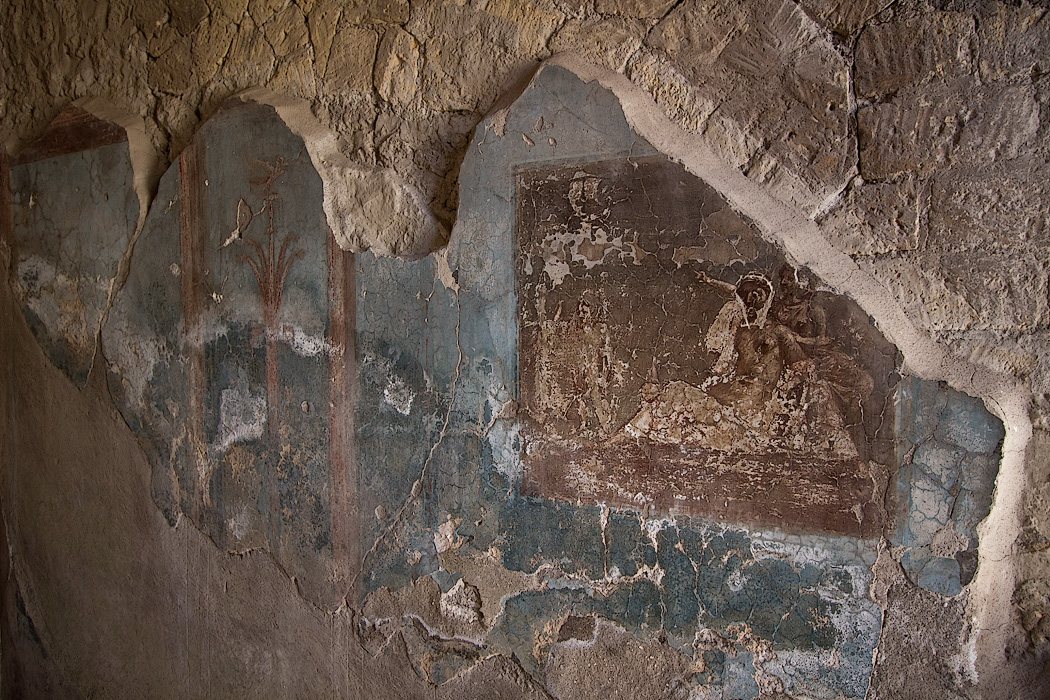 Ariadne Abandones painting discovered at the Herculaneum Ruins in Italy