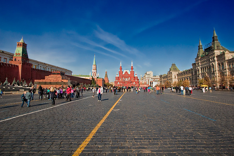 One end of Moscow's famous Red Square