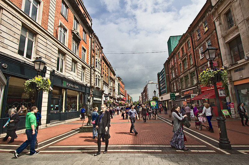 Earl Street North, a pedestrian shopping street in Dublin, Ireland