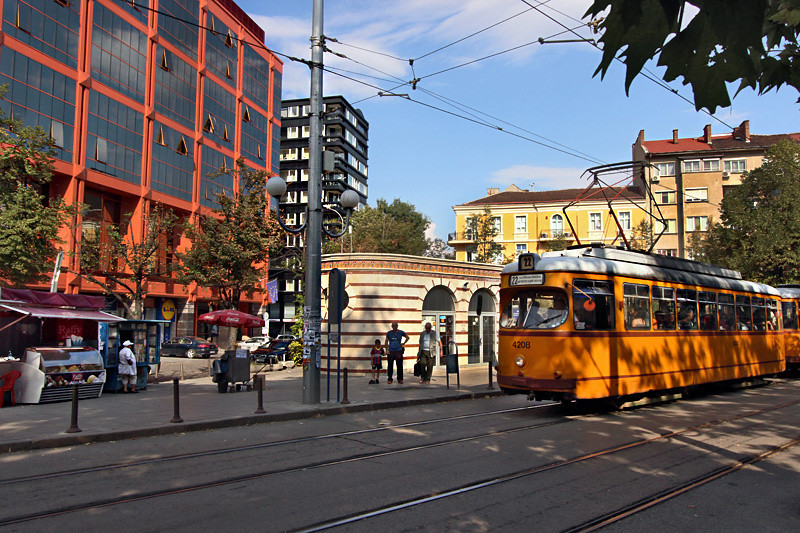 Electric trams in Sofia, Bulgaria provide green transport around the city
