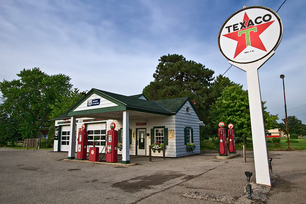 The Ambler-Becker Texaco Station operated longer than any service station on U.S. Rout 66. Today it is used as a visitor center for the town of Dwight, Illinois.