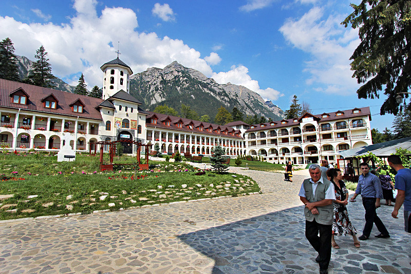 Each year, thousands of pilgrims visit Caraiman Monastery in Busteni, Romania