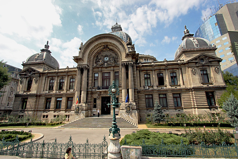 CEC Bank Palace in Bucharest, built in 1900, serves as headquarters of the Romanian National Savings Bank