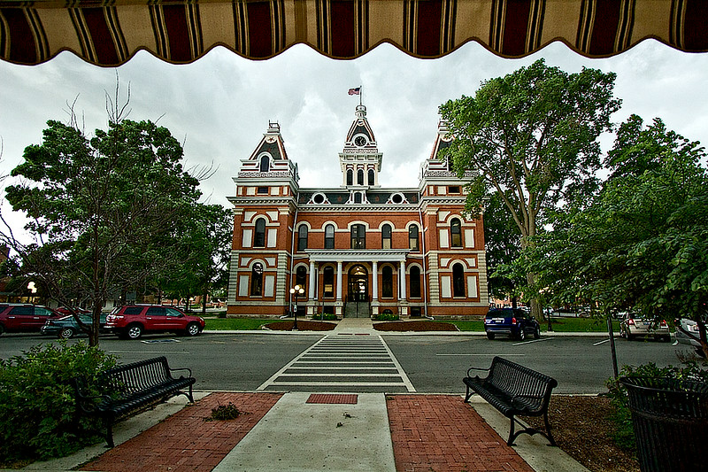 Courthouse in Pontiac, Illinois, one of the best towns for learning about the history of U.S. Route 66