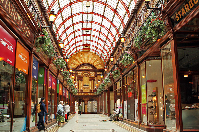 Central Arcade in downtown Newcastle, England