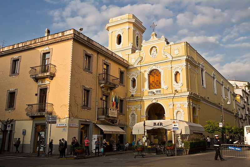 Church of Carmine on Piazza Tasso in Sorrento, Italy