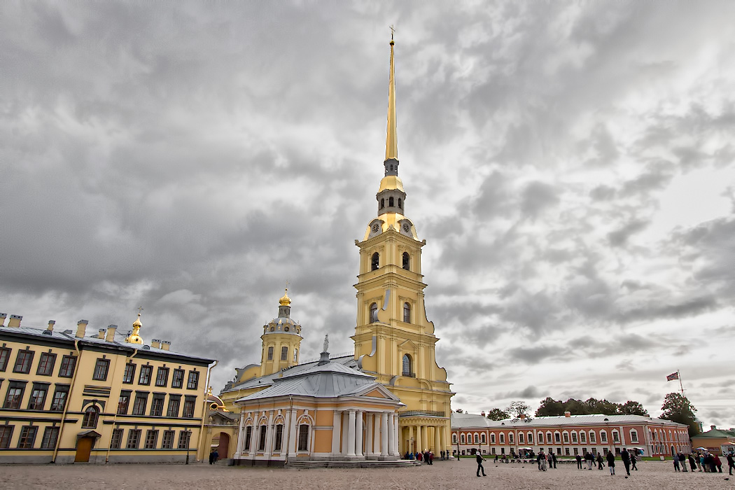 Saints Peter and Paul Cathedral at Saint Peter and Paul Fortress in St. Petersburg, Russia