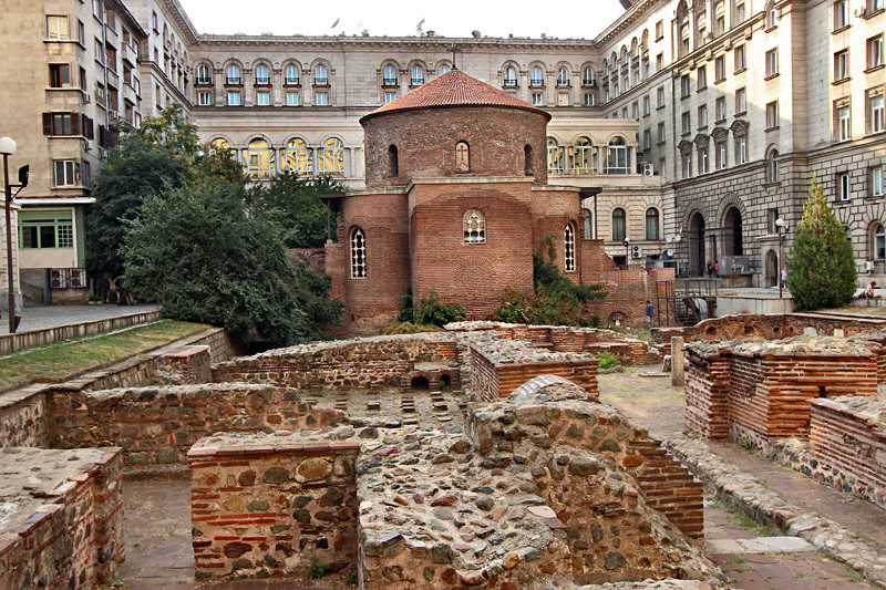 Church of Saint George Rotunda and the ruins of ancient Serdica, the city that preceded Sofia, Bulgaria