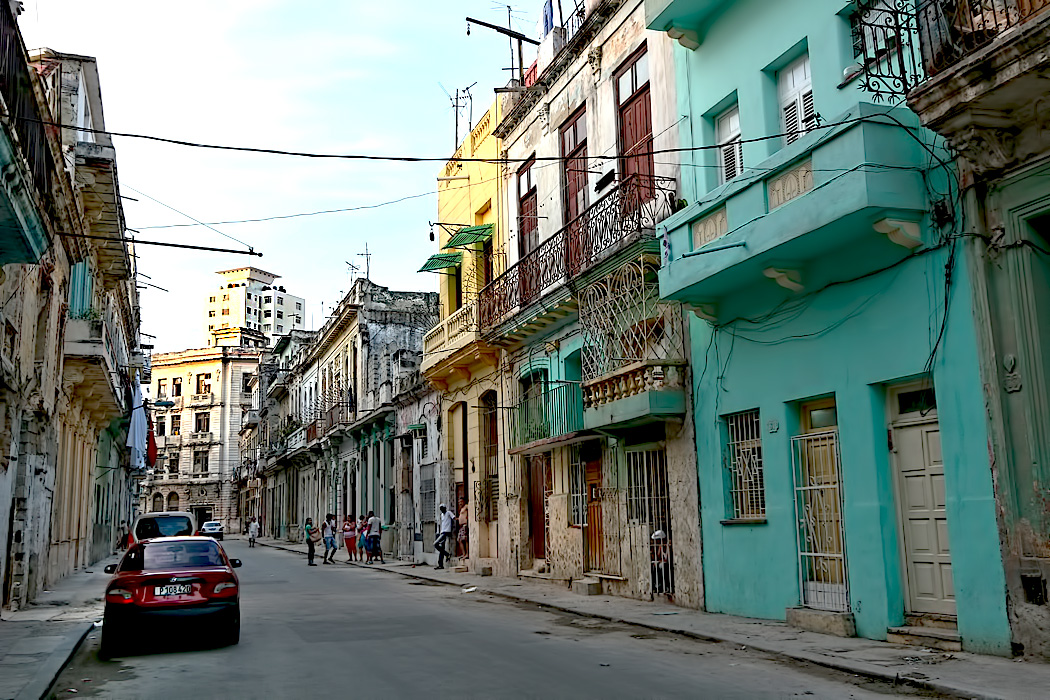Many homes in Old Havana, Cuba await restoration