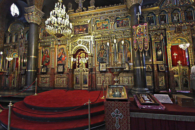 Interior of Saint Nedelya Church, an Eastern Orthodox church in the city center of Sofia, Bulgaria