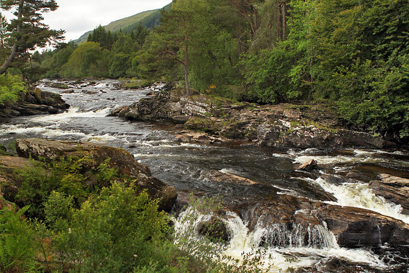 Falls of Dochart in Killin, Scotland