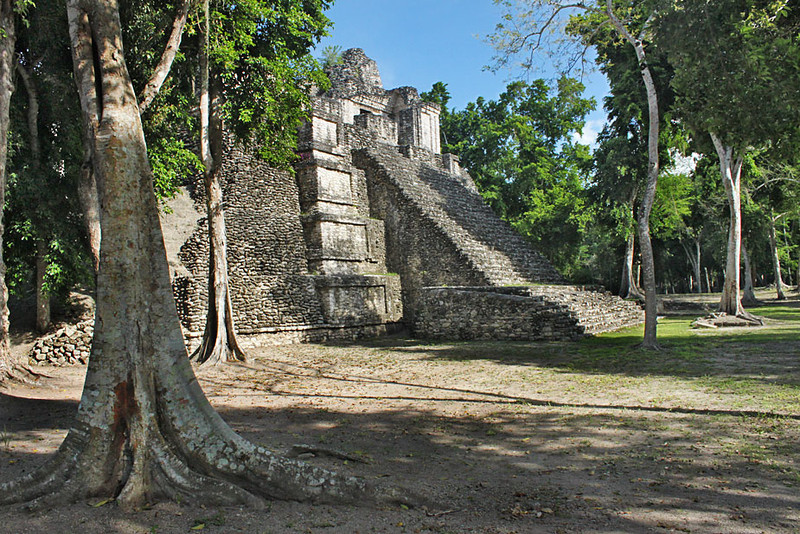 Dzibanche Mayan Ruins in the southern Yucatan peninsula, Mexico
