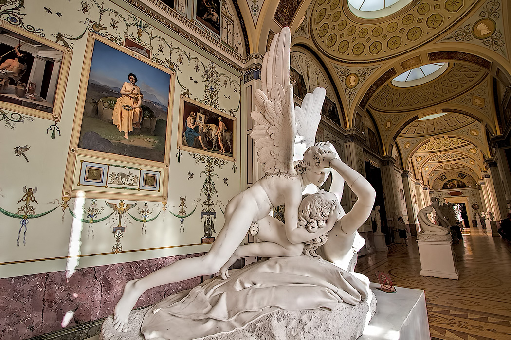 Stunning marble sculpture in the Hermitage Museum, St. Petersburg, Russia