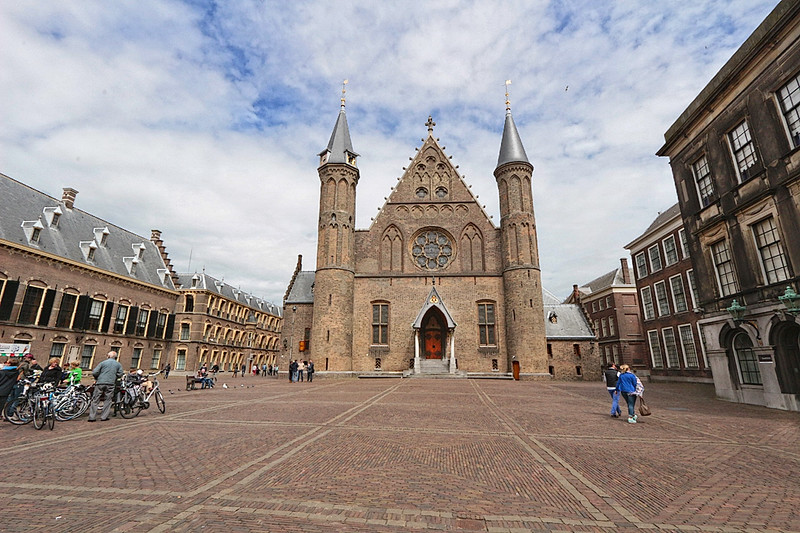 Ridderzaal Knight's Hall, from the courtyard of the Binnenhof in The Hague, Netherlands