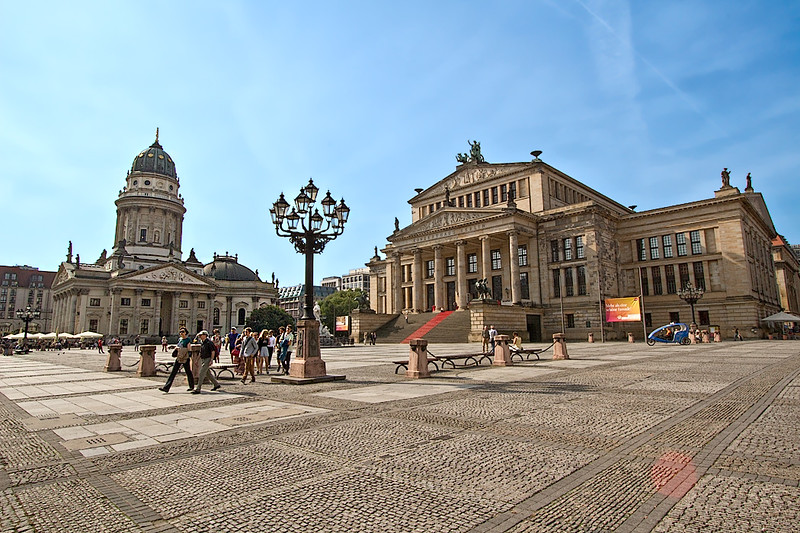Berlin Konzerthaus and German Church at Gendarmenmarkt