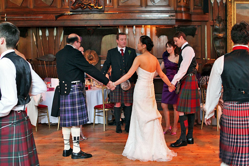Scottish wedding at Blair Castle in the midlands of Scotland - kilts are in fashion