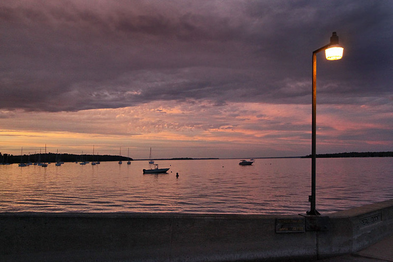 Sunset over Lake Champlain in Valcour, New York