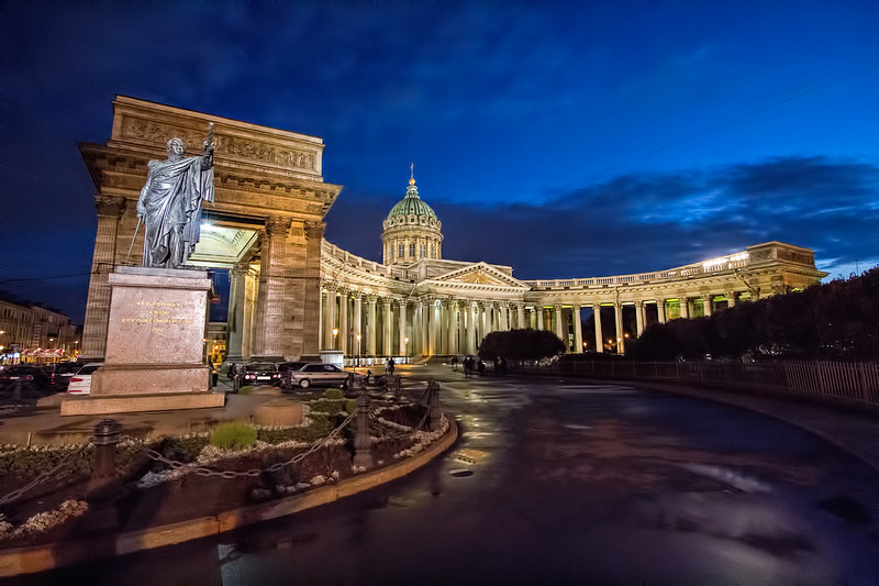 Cathedral of the Icon of Our Lady of Kazan in St. Petersburg, Russia