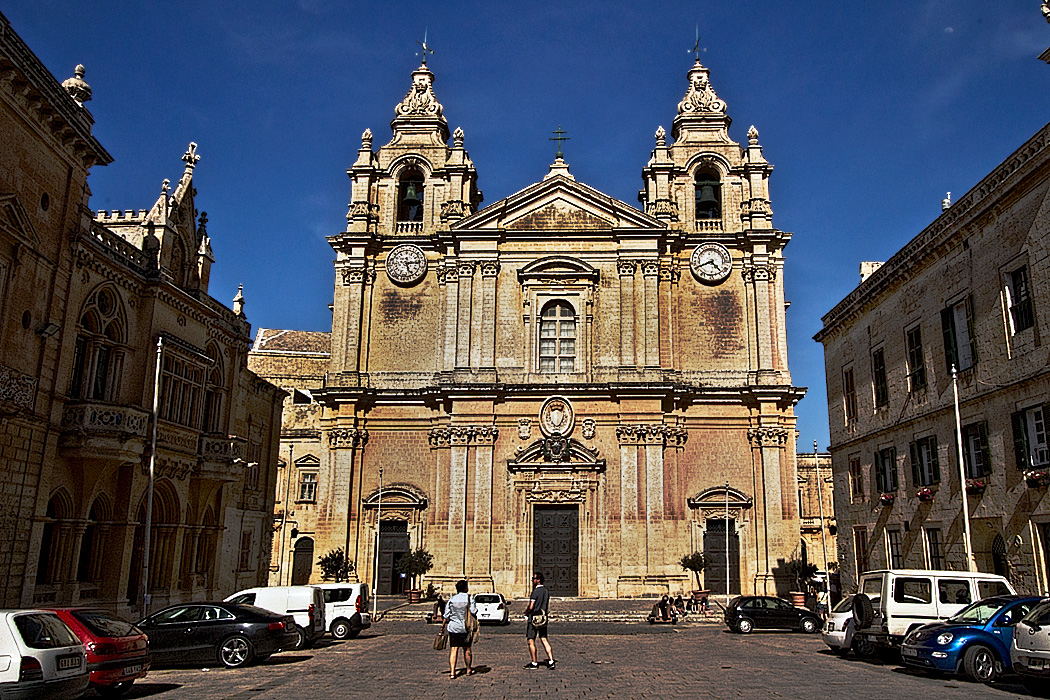 Saint Paul's Cathedral in Mdina, the original capital city of Malta