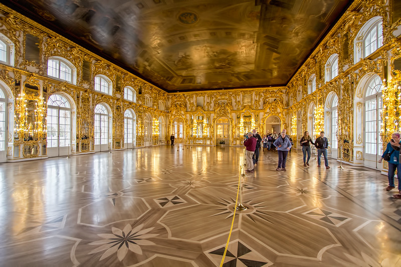 Ballroom at Catherine's Palace in St. Petersburg, Russia