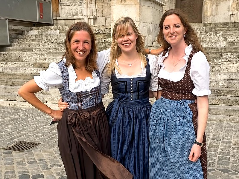 Women in Regensburg, Germany don traditional Bavarian dresses to celebrate the installation of the new Auxiliary Bishop