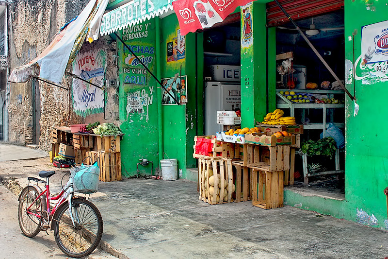Neighborhood grocery store in Bacalar, Mexico, located in the far southern part of the state of Quintana Roo on the Yucatn Peninsula