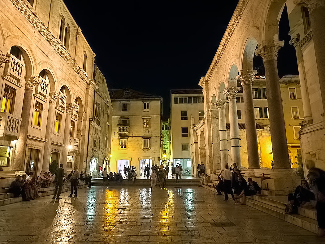 The Peristyle inside Diocletian's Palace in Split, Croatia