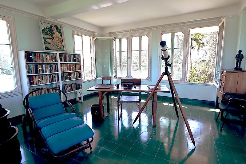 The room at Finca Vigia, Ernest Hemingway's home near Havana, Cuba, where he wrote novels