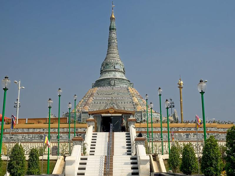Weirawsana Jade Pagoda near Mandalay, Myanmar, is covered in  jade pieces and slabs worth $15 million