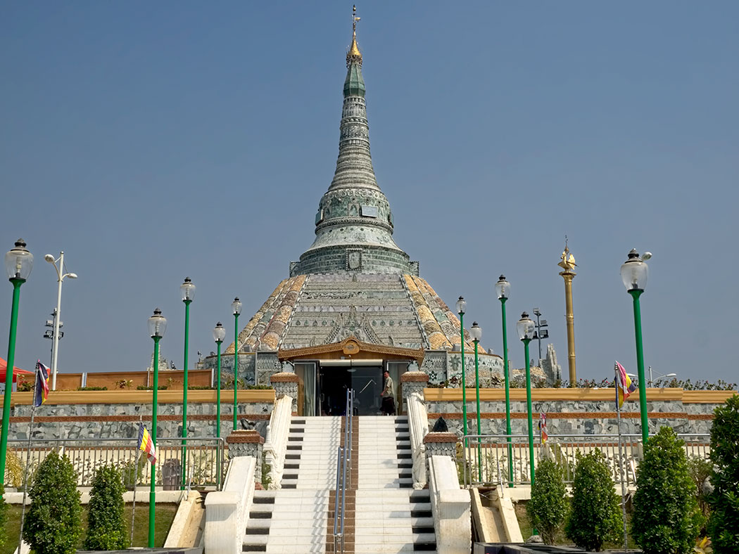 Weirawsana Jade Pagoda near Mandalay, Myanmar, is covered in jade pieces and slabs worth $15 million