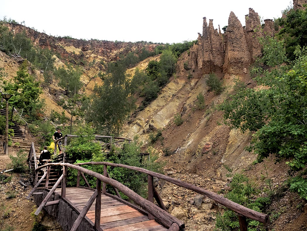 Local legend says that this geologic formation known as Devil's Town in southern Serbia was created when a furious God turned a wedding party to stone