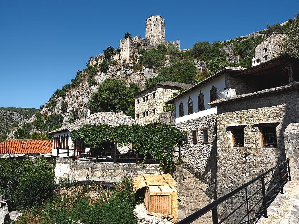 The old market town of Pocitelj in southwestern Bosnia-Herzegovina