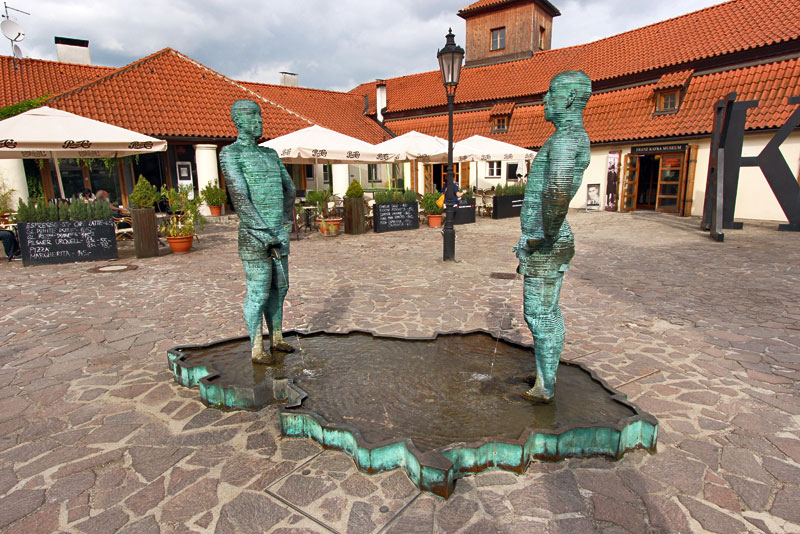 Piss sculpture by David Cerný, in Prague, Czech Republic