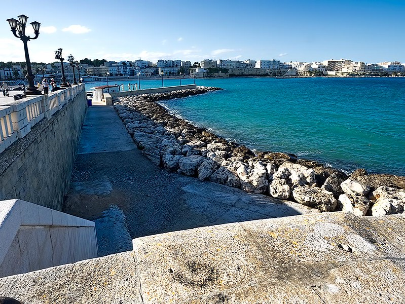 The waterfront in Otranto, Italy, another of the southern Puglia towns we visited during my week long Flavours Holidays cooking vacation