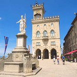 Liberty Square in San Marino. Not only is the Republic of San Marino one of the tiniest countries in the world, it is completely surrounded by Italy