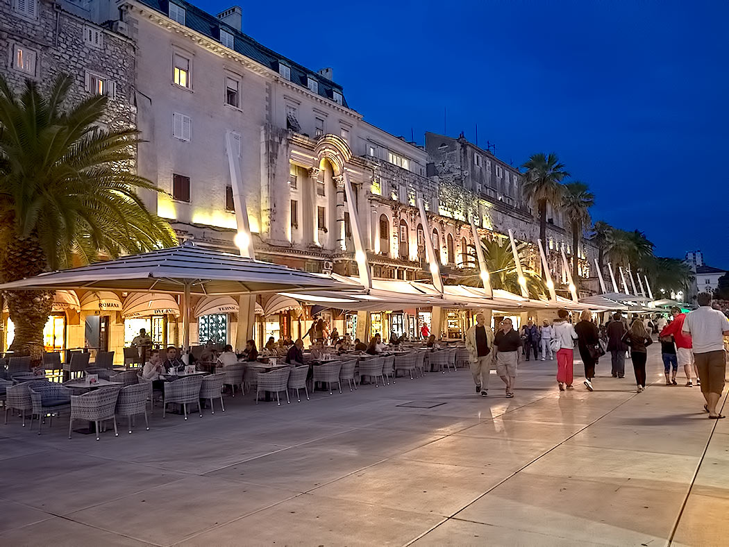Strolling along the Riva in Split, Croatia.